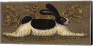 Green Folk Bunny Fine-Art Print