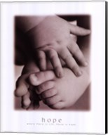 Hope - Infant Hands Feet Fine-Art Print