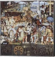Disembarkation Of The Spanish At Veracru Fine-Art Print