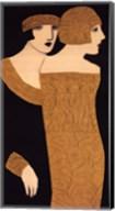 Two Women in Gold Frocks Fine-Art Print