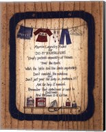 Mom's Laundry Rules Fine-Art Print