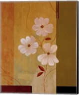Three White Flowers I Fine-Art Print