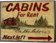 Cabin Rentals Fine-Art Print
