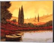 La Barca Al Tramanto Fine-Art Print