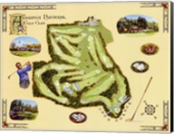 Golf Course Map-Augusta Fine-Art Print