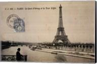 Le Quai d'Orsay et la Tour Eiffel Fine-Art Print