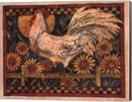 Rooster With Sunflowers Fine-Art Print