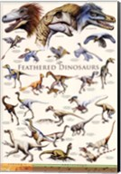 Feathered Dinosaurs II Fine-Art Print