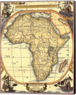 Small Nautical Map Of Africa Fine-Art Print