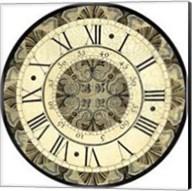 Small Vintage Motif Clock Fine-Art Print