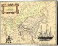 Asia Map Fine-Art Print