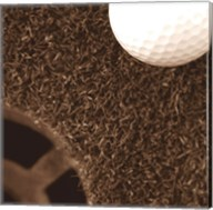 Sepia Golf Ball Study II Fine-Art Print