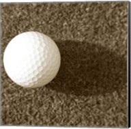 Sepia Golf Ball Study III Fine-Art Print