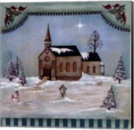 Winter Church Fine-Art Print