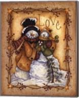 Snow Folk Love Fine-Art Print