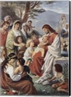 Jesus Blessing the Children Fine-Art Print