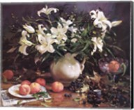 Lilies and Peaches Fine-Art Print