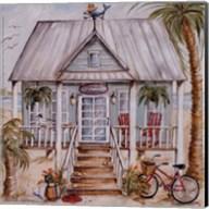 Green Beach House Fine-Art Print