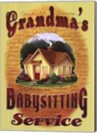 Grandma's Babysitting Service Fine-Art Print