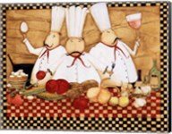 3 Chefs at Work Fine-Art Print