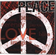Peace - Red Black and White Fine-Art Print