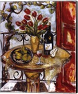 Still Life With Blooming Red Tulips Fine-Art Print