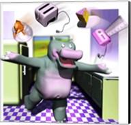 Kitchen Hippo Fine-Art Print