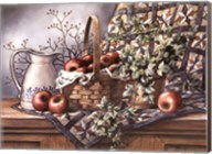 Quilt, Pitcher and Apples Fine-Art Print