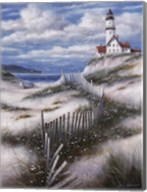Lighthouse with Sand Dunes Fine-Art Print