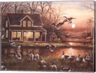Geese by the Lake Fine-Art Print