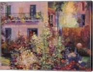 Balcony with Flowers Fine-Art Print