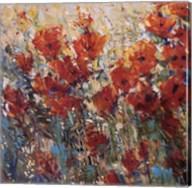 Red Poppy Field I Fine-Art Print