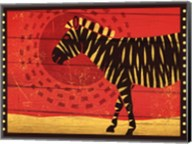 Woodblock Zebra Fine-Art Print