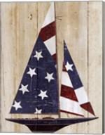American Flag Sailboat Fine-Art Print