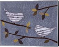 Aqua Songbirds I Fine-Art Print