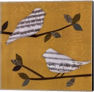 Golden Songbirds I Fine-Art Print