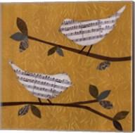 Golden Songbirds II Fine-Art Print