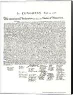 Declaration of Independence (Document) Fine-Art Print