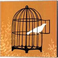 Small Birdcage Silhouette II (U) Fine-Art Print