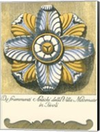 Blue & Yellow Rosette II Fine-Art Print