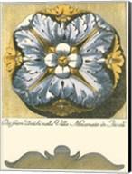 Blue & Yellow Rosette IV Fine-Art Print