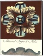 Aqua & Brown Rosette IV Fine-Art Print