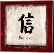 Believe - red border Fine-Art Print