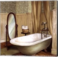 Green Farmhouse Bath II Fine-Art Print