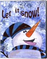 Let it Snow Snowman Fine-Art Print