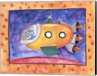 Yellow Spaceship Fine-Art Print