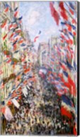 The Rue Montorgueil, Paris, Celebration of June 30, 1878 Fine-Art Print