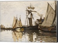 The Port of Honfleur, c.1865 Fine-Art Print