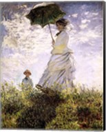 Woman with a Parasol - Madame Monet and Her Son Fine-Art Print