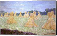 Haystacks, The young Ladies of Giverny, Sun Effec Fine-Art Print